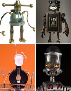 Retro Robots from junk