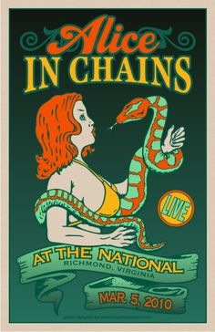 Alice In Chains - sick poster! Tour Posters, Band Posters, Music Posters, Alice In Chains, Music Artwork, Art Music, Music Wall, Rock And Roll Bands, Rock N Roll