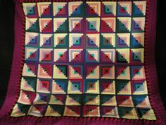 log cabin quilt patterns quilt layouts | very traditional pattern and hand quilted using traditional ...