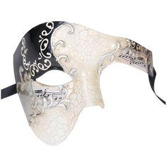 awesome Luxury Mask Men's Phantom Of The Opera Half Face Masquerade Mask Vintage Design