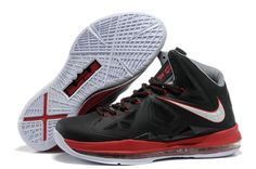 wholesale dealer c3c0c f4a4e Cheap Lebron James 10 White and Black   Red Nike Shoes to Buy Men Size