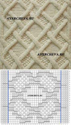 Узор спицами 1026 | каталог вязаных спицами узоров