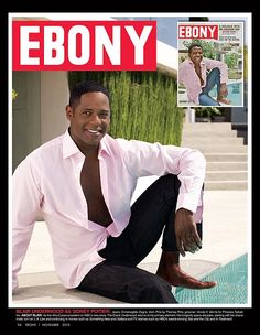 To celebrate its 65th anniversary issue and icons of the past, EBONY magazine chose current celebs to play them: Blair Underwood as Sidney Poitier.