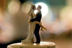 @Heather Creswell Mclaughlin, I know you'd never use a bride/groom cake topper, but this is cute.