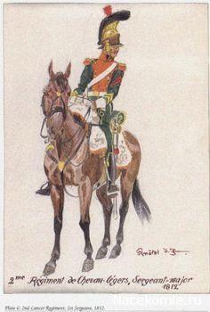 2nd Lancer Regiment, 1st Sergeant 1812 2e Régiment de Chevau_Légers, Sergent major 1812