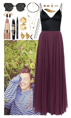 """""""Photo shoot with Harry"""" by ockey-33 ❤ liked on Polyvore featuring Halston Heritage, T By Alexander Wang, StrangeFruit, tarte, Max Factor, Smith & Cult and Fendi"""