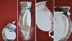 GINEVRA, IO, ILARIA, MARIELLA 4 pezzi 80x30 cm Tecnica mista su tela