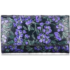 Pijushi Luxury Designer Floral Women's Luxury Genuine Leather Wallets... (£47) ❤ liked on Polyvore featuring bags, wallets, floral print wallet, genuine leather wallet, flower print bag, leather bags and floral wallet