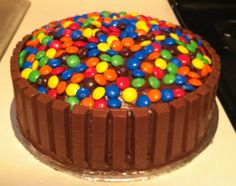 Kit Kat birthday cake.