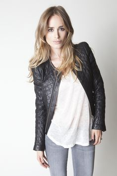 ANINE BING quilted jacket. www.aninebing.com