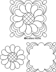 MO-030 Feather Wreath quilting design