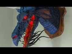 Step by step tutorial of making a lighted Paper Mache Dragon Trophy-Son of Maleficent - YouTube