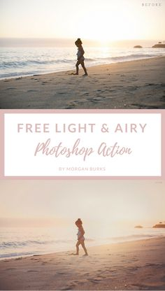Free Light and Airy Photoshop Action by Morgan Burks Best Photoshop Actions, Photoshop Overlays, Free Photoshop, Photoshop Tutorial, Photoshop Ideas, Photoshop Filters Free, Photoshop Website, Photoshop For Photographers, Photoshop Photography
