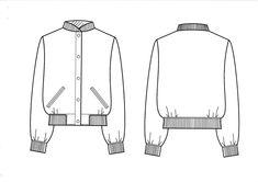Technical drawing coat