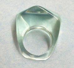 mermaid ring pop ring, plus 5 s/h Retro Vintage Pale Aqua Lucite Plastic Pop by VintageJewelryDrawer, $11.99