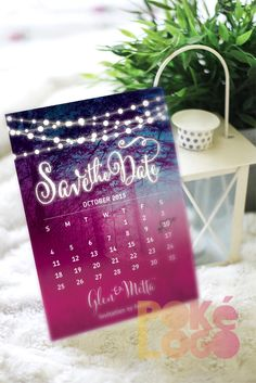 Fairy Lights String Lights Save the Date Printable Digital by PokeLogo on Etsy