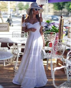 Material: Cotton Blends Silhouette: A-Line Dress Length: Floor-Length Sleeve Length: Short Sleeve Neckline: V-Neck Combination. Plain Wedding Dress, Plain Dress, Luxury Wedding Dress, Classic Wedding Dress, The Dress, Wedding Dresses, Casual Dresses, Fashion Dresses, Elegantes Outfit