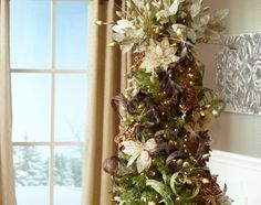 A decorated tree I finally like! Three easy steps to decorate a  Christmas tree with Enchanted Elegance decor.