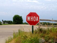 WHOA stop sign!