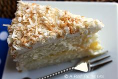 """The"" Coconut Cake with lemon curd filling"