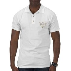 Golden Descent of The Holy Spirit Symbol Polo T-shirts.  $27.55