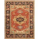 Found it at Wayfair - Serapi Black/Rust Rustic Persian Area Rug