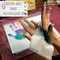 Mother's Day Craft for Kids {Hand Print Charms} | Plucking Daisies