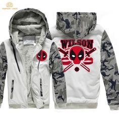 Deadpool - Winter Jacket with Hoodie for Men