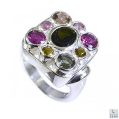 Riyo Silky Tourmaline 925 Solid Sterling Silver Multi Ring Srtou6-84024