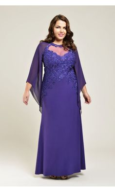 Viviana Emily Gown in Purple