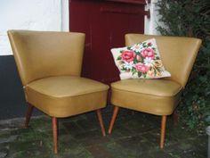 Hippe retro cocktailstoel x 2 vintage club fauteuil cocktail stoel. #BlijeSpullen.nl | Amersfoort
