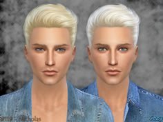 Cazy's Nicholas Hairstyle - Sims 4
