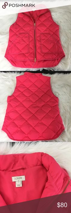 New J. Crew Hot Pink Vest Brand new without tags, size small J.Crew Factory Jackets & Coats Vests