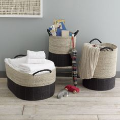 west elm storage baskets
