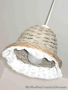 Un cestino per lampadario