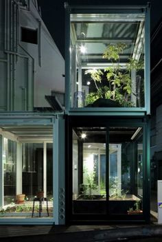 Industrial greenhouse sitting rooms