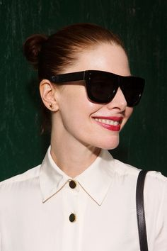 """What We're Wearing This Fashion Week  #refinery29  http://www.refinery29.com/outfit-ideas-fashion-week-2014#slide6  """"I bought these sunglasses at the Other Stories shop in Paris; they make wonderful, quality shades for under $100. I love their chic but don't-mess-with-me vibe."""""""