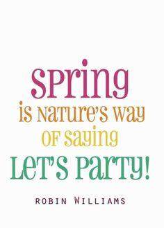Robin Williams on spring