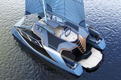 Power Catamaran, Sailing Catamaran, Sailing Ships, Yacht Design, Boat Design, Yatch Boat, Ski Nautique, Explorer Yacht, Yacht World