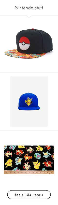 """Nintendo stuff"" by stellarblitz ❤ liked on Polyvore featuring men's fashion, men's accessories, men's hats, black, mens hats, mens cotton beanie hats, mens snapbacks, mens snapback caps, mens snapback hats and skirts"