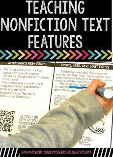 NonFiction Text Features made easy! Use these quick tips to teach students these text features!