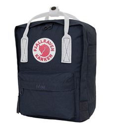 navy and white kanken mini <3 http://www.ilovemykanken.com/shop/products/kanken-mini-navy-white.htm