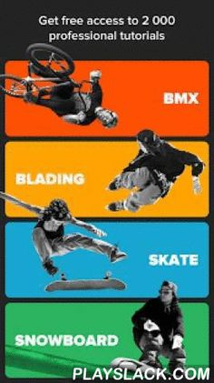 RIDERS – Skate, BMX, Snowboard  Android App - playslack.com ,  Learn tricks, improve your skills, track personal progress and share your achievements with the 400,000 riders community from all corners of the world. Simply works both for beginners and pros.The world's largest BMX, Skateboard, Surf, Snowboard, Ski, Aggressive Inline, Scooter, Wakeboard, Kiteboard, Longboard, Parkour, Mountain bike, Windsurf and other action sports how-tos and trick tips containing detailed videos with…