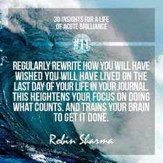 Focus On Doing What Counts - Robin Sharma
