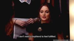 blair waldorf...ok, so I know in this particular episode she was just faking to look good in front of a elite group but..well said, girl!!!!!!!