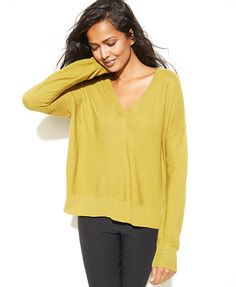 Eileen Fisher Long-Sleeve V-Neck Sweater