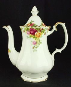 Royal Albert Old Country Roses Medium Coffee Pot 1st Quality VGC