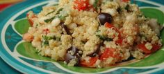 Lemon Garlic Quinoa With white beans and olives  I made this with Bulgur since that's what I had on hand. Good meatless dish. Update 5/13 Made with quinoa and its still yummy!