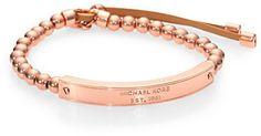 Michael Kors Beaded Leather Plaque Stretch Bracelet on shopstyle.com