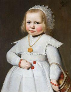 """""""Portrait of a Two-Year-Old Girl"""" by Jan Cornelisz van Loenen (1636)"""